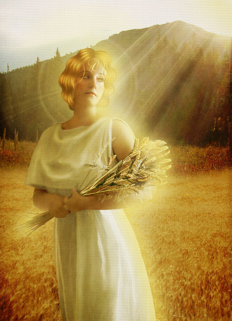 Demeter Ceres Greek Goddess Art 05 by JinxMim